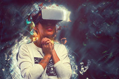 Woman in virtual reality Royalty Free Stock Photography