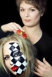 Visagiste-artist create model image Royalty Free Stock Photography