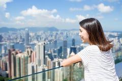 Woman visit in Hong Kong Royalty Free Stock Images