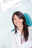 Woman visiting the dentist Royalty Free Stock Images