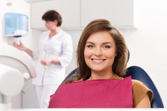 Woman visiting dentist Stock Photography