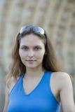 Woman visiting paris Stock Images