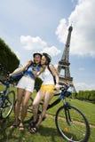 Woman visiting paris Stock Photos