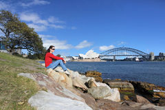 Woman visiting Sydney New South Wales Australia Royalty Free Stock Photos