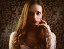 Woman vogue portrait royalty free stock photography