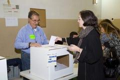 Woman voting Stock Photo