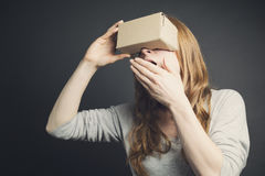 Woman - VR Experience Stock Image