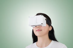 Woman with vr headset Royalty Free Stock Image