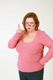 Woman wagging finger stock photo
