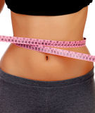 Woman waist with measuring tape Stock Photography