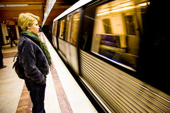 Woman waiting Royalty Free Stock Photos