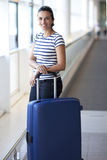 Woman waiting at the airport Royalty Free Stock Photography