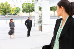 Woman Waiting For Co-Workers Royalty Free Stock Photos