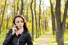 Woman Waiting For A Call On Her Mobile Royalty Free Stock Photo