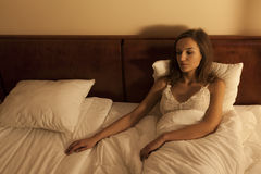 Woman waiting for her boyfriend royalty free stock photo