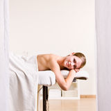 Woman waiting for massage Royalty Free Stock Photos