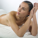 Woman waiting massage Stock Images