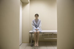 Woman Waiting For Medical Examination Royalty Free Stock Photography