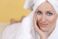 Woman Waiting For A Spa Treatment Royalty Free Stock Photos