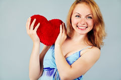 Woman waiting for Valentine's Day Royalty Free Stock Photos