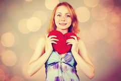 Woman waiting for Valentine`s Day Stock Photos