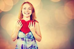 Woman waiting for Valentine`s Day Stock Photography
