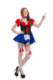Woman waitress in octoberfest Royalty Free Stock Photo