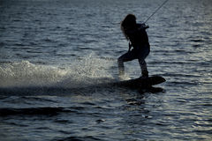 Woman wakeboard Stock Photography
