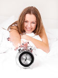 Woman wakes up Stock Photo