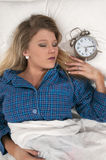 Woman waking up Royalty Free Stock Photography