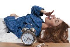 Woman waking up Stock Photos