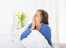 Woman waking up Stock Photography