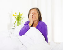 Woman waking up Royalty Free Stock Image