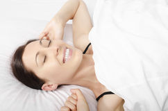 Woman waking up Royalty Free Stock Photo