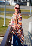 Woman on the walk. Royalty Free Stock Photography