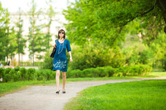 Woman walking Royalty Free Stock Photos