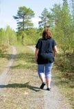 Woman Walking Royalty Free Stock Photography