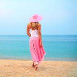 Woman walking Royalty Free Stock Image