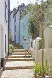 Woman walking Brixham Torbay Devon Endland UK Royalty Free Stock Images