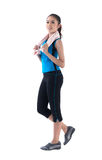 Woman walking for exercise. A pretty woman walking for exercise Royalty Free Stock Images