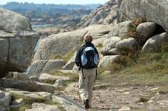 Woman walking, France Stock Photo