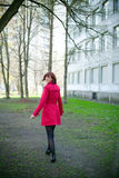 Woman Walking Her Way Royalty Free Stock Image