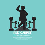 Woman Walking On Red Carpet Symbol Royalty Free Stock Photography