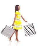 Woman walking shopping Royalty Free Stock Image