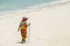 Woman walking Royalty Free Stock Photos