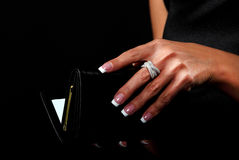 Woman with a wallet Royalty Free Stock Images