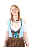 Woman wants to visit Bavarian Oktoberfest Royalty Free Stock Images