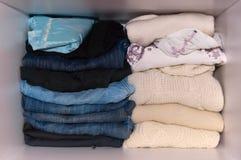 Woman wardrobe Stock Image