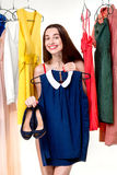 Woman in wardrobe Royalty Free Stock Images