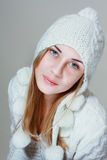 Woman in warm clothing Stock Image
